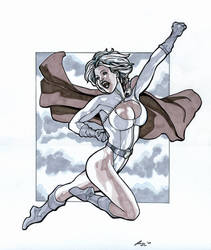 Powergirl 11 x 14 by Barracuda9999