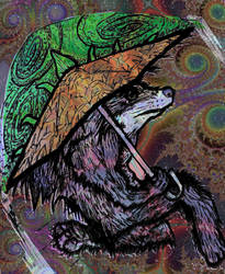 Wolfman with Cosmic Pineappbrella - Whacked 1 by racingspoons