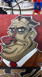 big nose guy by HEROBOY
