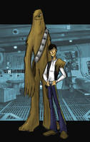 han solo and chewbacca by HEROBOY