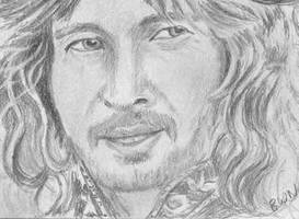 aceo, art trading card Faramir Lord of the Rings by BethannNg