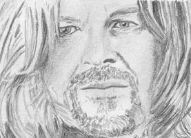 aceo, art trading card Boromir Lord of the Rings by BethannNg