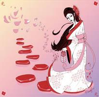 Lantern Geisha by RebeccaDell