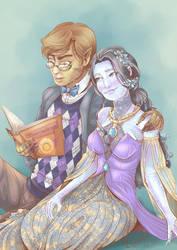 Book And Safira by RebeccaDell