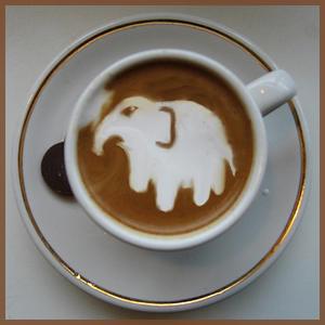 Elephant Coffee by Pupiattola