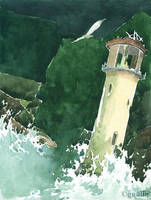 The lighthouse by Gnulia