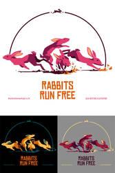 Rabbits run free by Gnulia