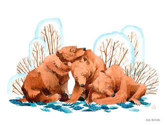 Three Bears by Gnulia