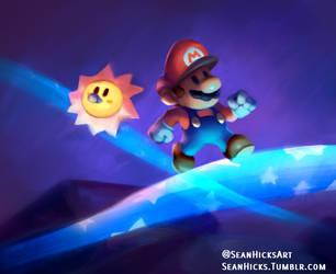 Mar10 Day Celebration- Paper Mario speedpaint by SeanHicksArt