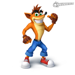 Crash Bandicoot Smashified Transparent by Sean-the-Artist