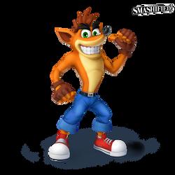 Crash Bandicoot Smashified Transparent by SeanHicksArt