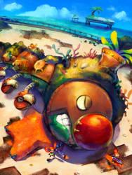 Splatshine: Wiggler Boss Concept by Sean-the-Artist