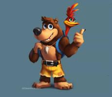 Banjo and Kazooie [Fan Art] by SeanHicksArt