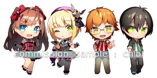 commission sample type: chibi commissions by isxelle