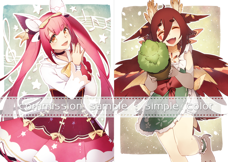 commission sample type: simple color by isxelle