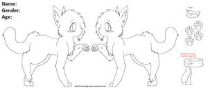Line Art- Cat Reff by MorningDesiree