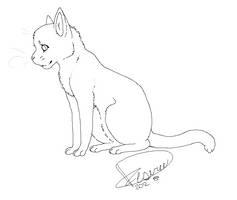 Sittin' Kitty Line Art/Base by MorningDesiree