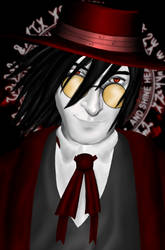 Alucard with glasses by Hoskar
