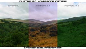 Photoshop Landscape Actions by interesive