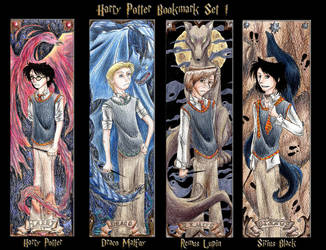Harry Potter Bookmark Set 1 by SanctusRequiem