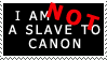 Slave to Canon Stamp by SanctusRequiem