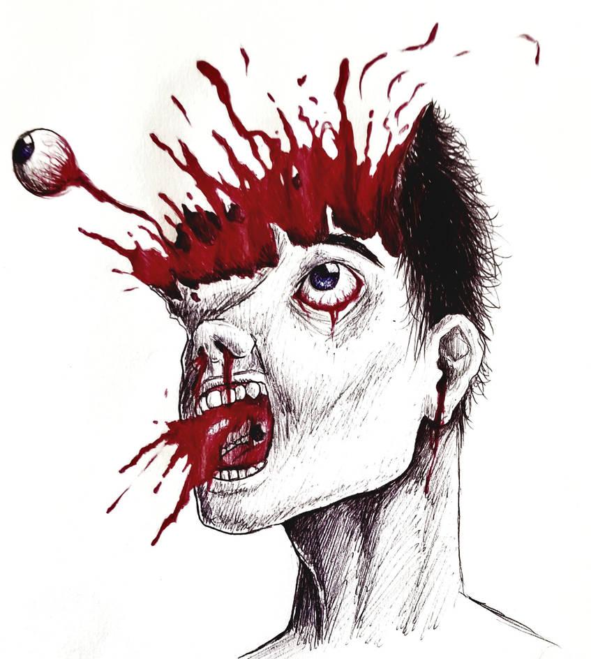 Exploding head by 126MorbidPoetry