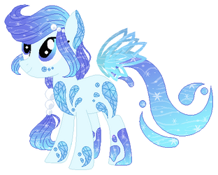 :CLOSED: Sparkling Water Sea Glass Pony Adoptable by WishingWellBro