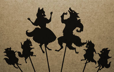 Fox Family Shadow Puppet Collection by mimetalk