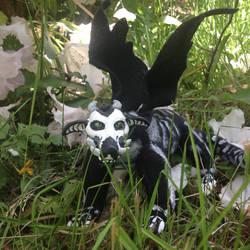 Skleta- ooak posable dragon doll by T4pew0rm