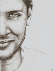Jensen Ackles minimalist sketch by Miss-Lizzie-Jane