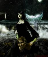 Mermaid prey of the Vampire by frenchfox
