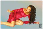 The Red Dress by legreg-art