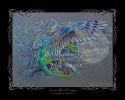Green Bird Dragon by Michelle-JA-McIntyre