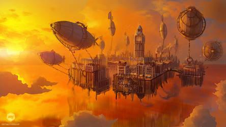Concept Art: Airship Acres by ExitMothership