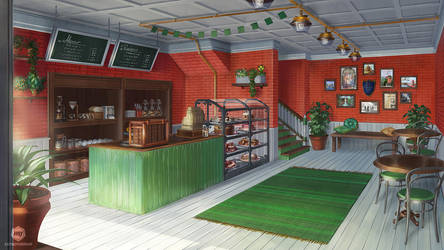 Caffeine: Coffee Shop Interior by ExitMothership