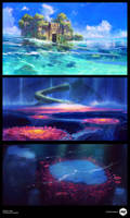 Project Here: Environment Concepts by ExitMothership