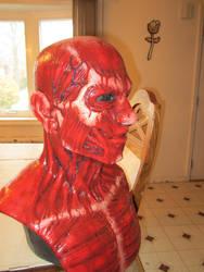 my Hellraiser Frank CFX  Halloween mask pic 2 by darkside7777777
