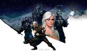 Witcher3: Wild Hunt by MOLENart