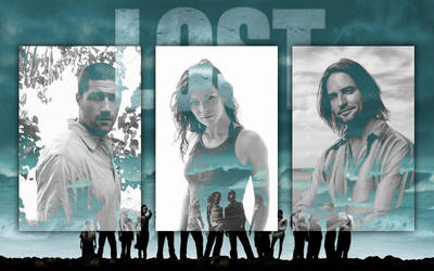 LOST with Jack Kate and Sawyer by grafxguye