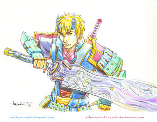 Onimusha 4 Soki fan art by Hannah-Hayashi