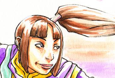 Onimusha 4 Jubei fan art- face by Hannah-Hayashi