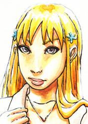 Bleach's Orihimei fan art face by Hannah-Hayashi