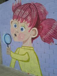 Nena con bolboretas 2 by Patuco