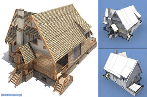 Low poly house by Cerebrate