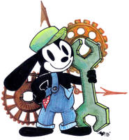 Oswald the Grease Rabbit by anniemae04