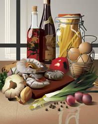Food Scean_Vector Art by anniemae04