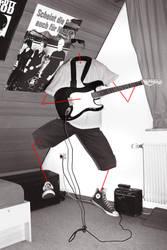Invisible Guitar Hero by delphile