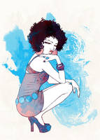 Afro girl by intrond