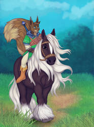 [ YCH AUCTION FINISHED ] Bareback ride by Marchef-Iustinianie
