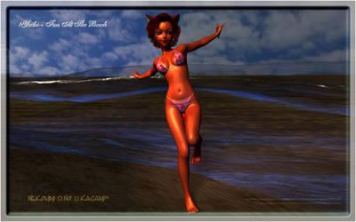 !Yuiko - Fun At The Beach by De3pBl4ck